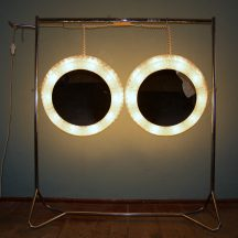 illuminated 70s perspex mirror