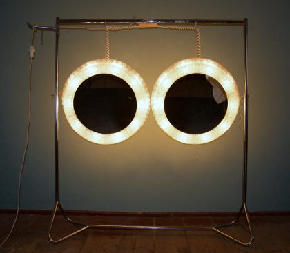 illuminated 70s perspex mirror