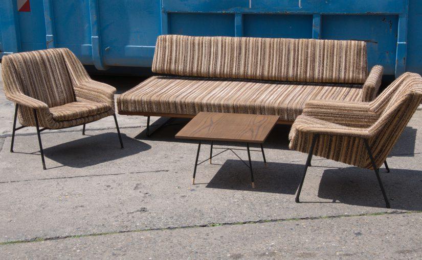 60er jahre sofa garnitur – walter knoll