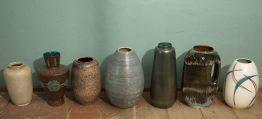 ceramic floorvases west-germany