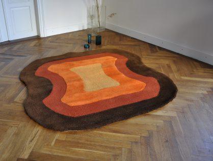 60/70er jahre teppich 'excenter'