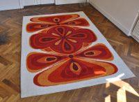 60/70er jahre teppich 'orange flowers'