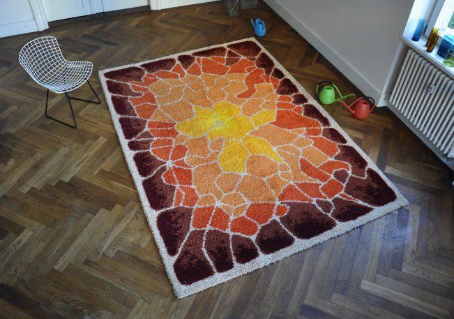 60/70er jahre teppich 'popgiraffe'