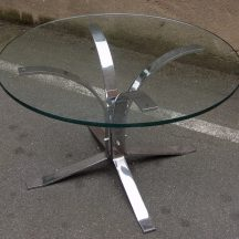 70er chrom/glas side coffee-table