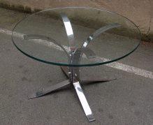 70er chrom/glas side coffee-table