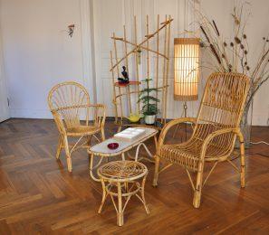 50s rattan/bambus möbel fürs tiki flair