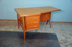 60s teak boomerang desk