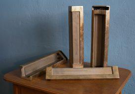 60s brass coffee-table legs 'bielefelder werkstätten'