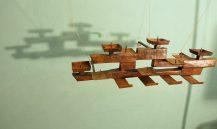 brutalist 50s copper wall-candleholder