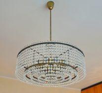 50er jahre lobmeyr leuchter + 4 wandleuchten