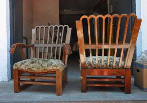 massiv art deco lounge-chairs
