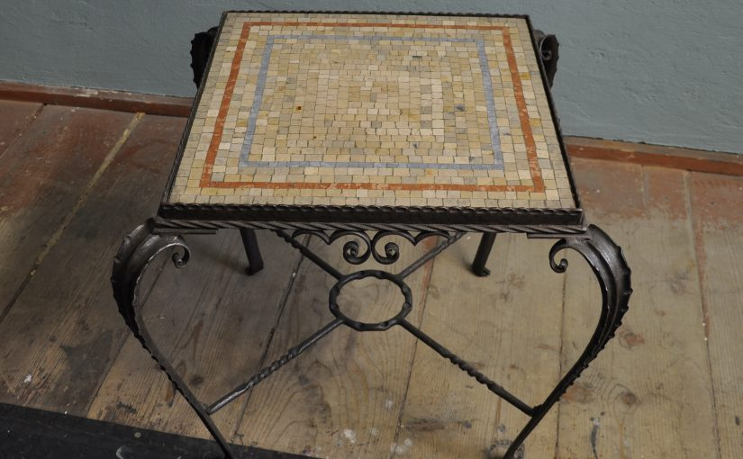 wrought iron coffee-table terrazzo