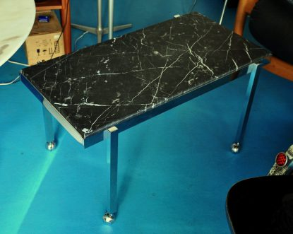 black marble/chrome coffee/side-table