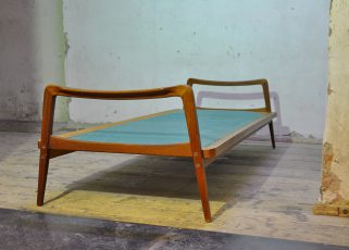 knoll antimott sofa/daybed, teak, 50er jahre