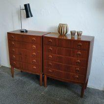 pair chest of drawers, danish 60s