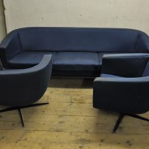 rare jacques brule sofa set from james bond movie
