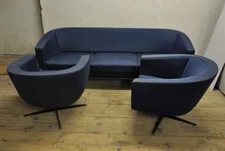 rare jacques brule sofa set from james bond movie