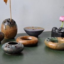 set of 7 ikebana studio ceramics