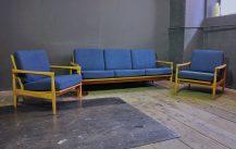sofa set 'kolding' 3/1/1 – design erik wørts 1961