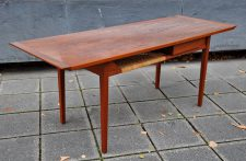 teak coffee table with drawer