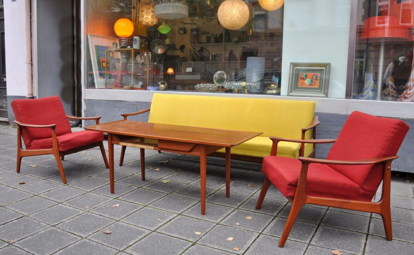 teak sofa 60er jahre dänischer stil
