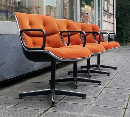 4x pollock chair, knoll international '65
