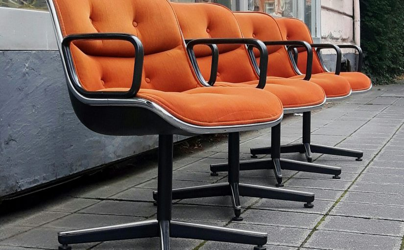 4x pollock chair, knoll international '65