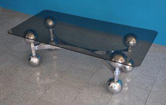 70s chrome sputnik coffee-table