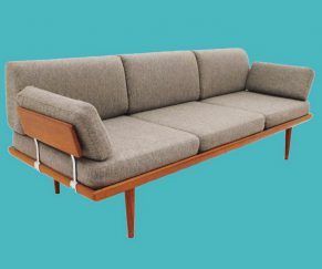 hvidt 'minerva' teak sofa
