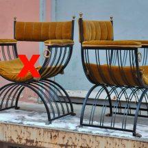 kingchair/scissorschair italy 1950s
