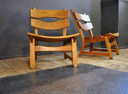 Oak Lounge Chairs, 1960s