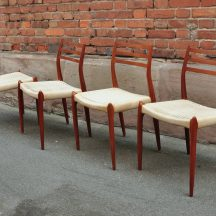 set of 4 møller model 78 dining chairs