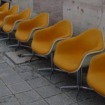 set of 6x eames DAR chair mustard