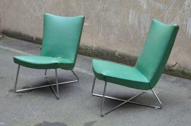 walter knoll attr. tubular steel lounge-chair