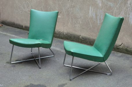 walter knoll attr. tubular steel lounge-chair