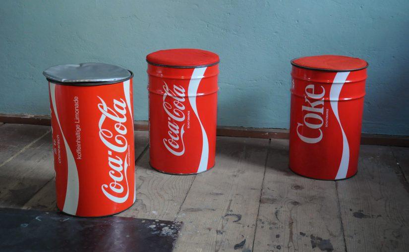 3x 70er coca-cola sitzdose