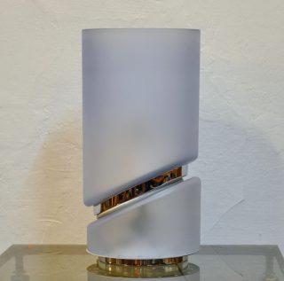 asymetrische glasleuchte 70er