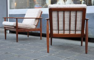 paar 60s walnuss-sessel