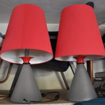 paar 70s leola design lampen
