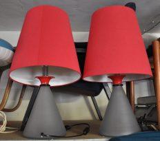 paar 70s laola design lampen