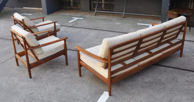 60er jahre sofa garnitur, dänischer stil