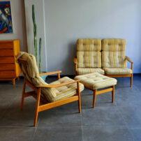 arne vodder teak lounge chair/sofa