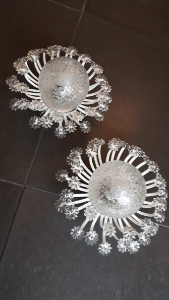 60s flower wall-sconces
