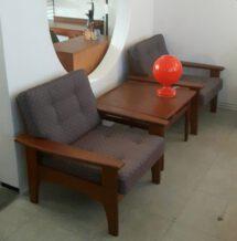 60er danish teak sofa / sessel