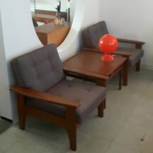 60er danish teak sofa / sessel