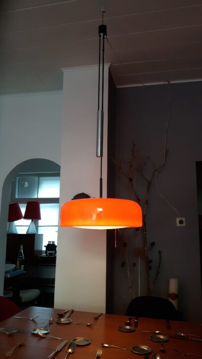 orange staff counter-weight lamp
