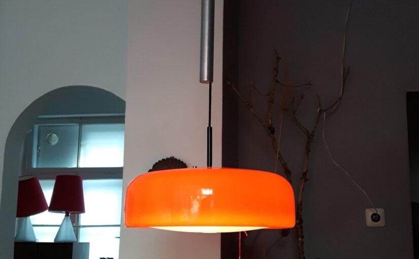 orange staff counter-weight lamp