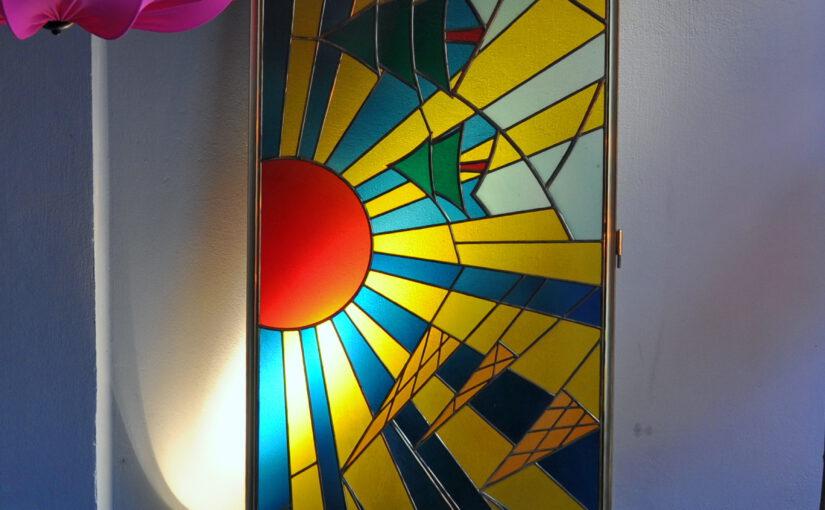 50er jahre bleiglasfenster