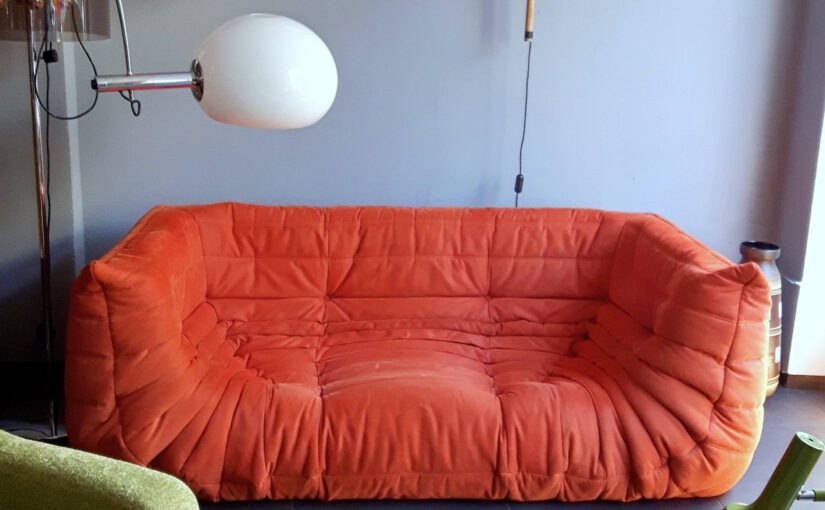 togo sofa, 2-sitzer groß, orange